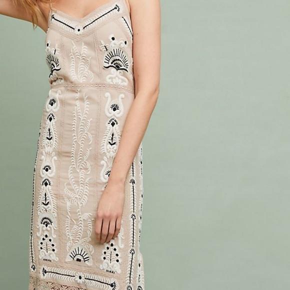 f49cfd341fab Anthropologie Dresses | New Embroidered Slip Dress Maeve | Poshmark